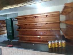 Móveis  de madeira para loja mercearia