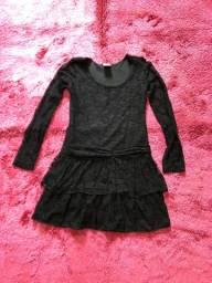 Vestido de renda preto n12