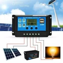 Controlador de carga de bateria 30a 12/24 energia solar fotovoltaica