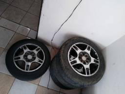 Título do anúncio: Troco rodas 14 universal em 13 de ferro