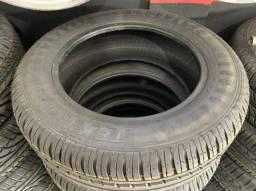 Título do anúncio: Par de pneus remolde novo 185/65/14 Tekystyre