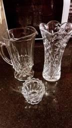 Título do anúncio: Jarra e vaso em cristal