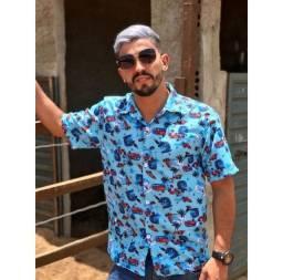 Camisa floral masculino Social