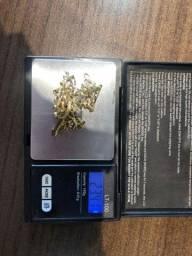 Cordão Corrente em ouro maciço 18k, com 23,4 gramas.<br>Sem feixe, Cordão inteiriço.