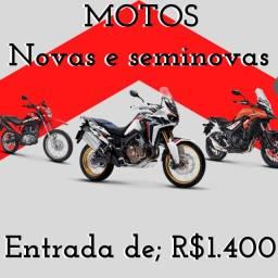 Motos novas e seminovas (entrada de 641,24)