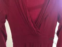 Vestido vermelho-bordô gostosinho