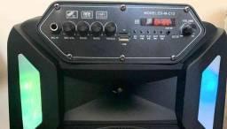 Caixa de Som 3000W Bluetooth Microfone S/ fio e Controle Remoto!