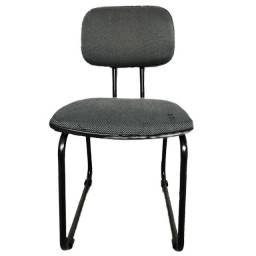 Cadeira para escritório em tecido cinza usada