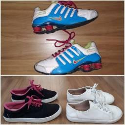 Título do anúncio: Tênis feminino Nike / Moleka tamanho  34
