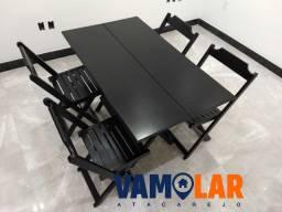 Cadeira dobrável de madeira de lei reforçada