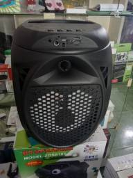 Caixa de som Bluetooth amplificada karaokê tws Recarregavel com microfone