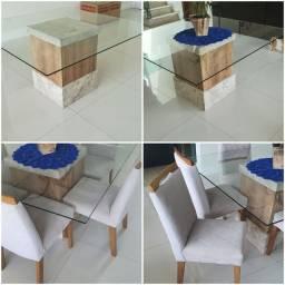 Título do anúncio: Mesa de jantar 6 cadeiras