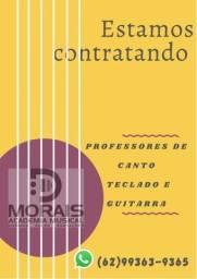 Título do anúncio: Professores canto teclado e guitarra