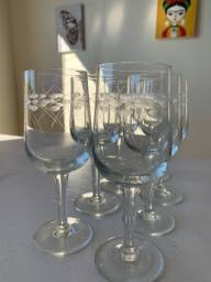 7 copos de cristal