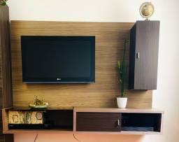 Painel suspenso TV com porta de correr