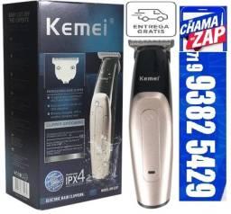 Maquina de Acabamento Cabelo Barba Kemei S/ Fio Km 3207