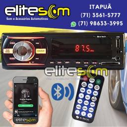 Aparelho Mp3 Bluetooth Fm Usb Sd instalado na Elite Som