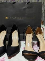 Vendo uma sandália  e  um Scarpan  de números  37, da Sapatinho de luxo.