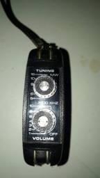 Mini radio portátil pilha