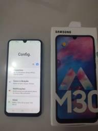 Título do anúncio: Samsung Galaxy M30 64GB Azul completo na caixa com nota fiscal