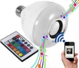 Lâmpada Led Colorida Caixa de Som Bluetooth com Controle Infravermelho