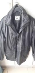 Casaco de couro legítimo importado