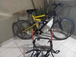 Bicicleta Sundown Brisk Dupla Suspensão 21 Marchas Aro 26