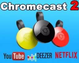 Google Chomecast 2 * Original .Hdmi *Nota Fiscal* Novo.Lacrado- Netflixl