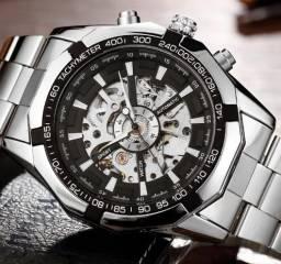 8c4ac466742 Relógio Winner Aço Inox Mecânico Automático