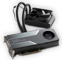 Placa de vídeo - Geforce GTX 970 evga 4GB gddr5 hybrid 256 bit