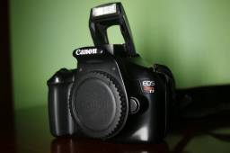 T3, Canon, dslr, corpo, seminova, em perfeito estado e funcionamento