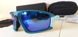 Usado, Óculos Oakley de Ciclismo Field Jacket Azul/Azul Celeste Prizm Polarizado - Importado comprar usado  Brasília