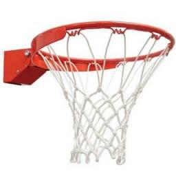 Cesta de basquete oficial com rede + bola de brinde