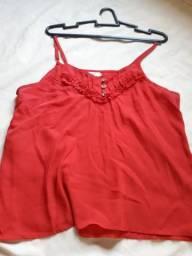 Blusa vermelha linda nova