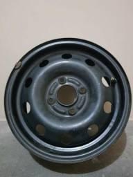 Roda de ferro 14 furação ford 4x108 (dá certo no peugeot)
