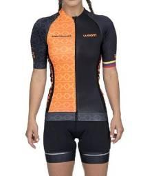 Camiseta Feminina Ciclismo Supreme Cartagena Laranja Woom