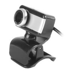 Webcam BrazilPc V4 Com Microfone Preto/Prata