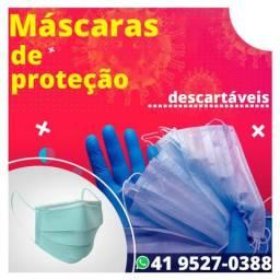 Máscaras de proteção Descartáveis