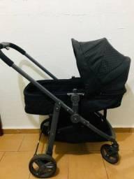 Carrinho de bebê Galzerano Olympus e bebê conforto com base que acopla no carrinho