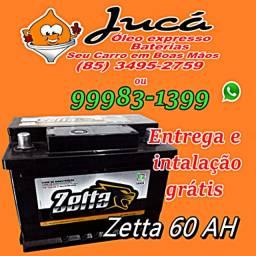 Bateria Zetta 60 ah com entrega e instalação grátis