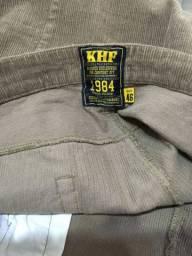 Calça masculina de veludo nova Kelf