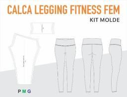 Molde Digital Calça Legging Fitness Fem