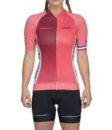 Camiseta Feminina Ciclismo Supreme Marselle Rosa Woom