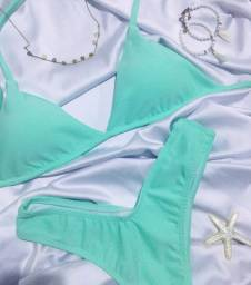 Vendo Biquíni Asa Delta azul piscina