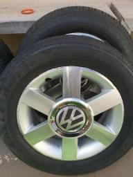 Jogo de rodas aro 14 com pneus