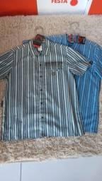Camisa de botão com 50% de desconto