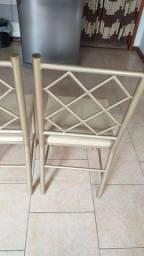 6 cadeiras reforçada ótima conservação Usada ___ entrego hj