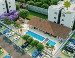 condominio village das arvores residence, com 2 quartos.