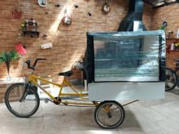 Triciclo para vendas ambulante