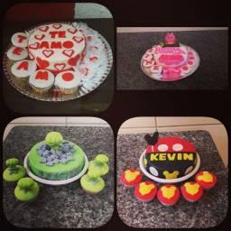 Mini bolos temáticos